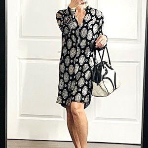 Zara Bandana Print Lagenlook Shift Mini  Dress M